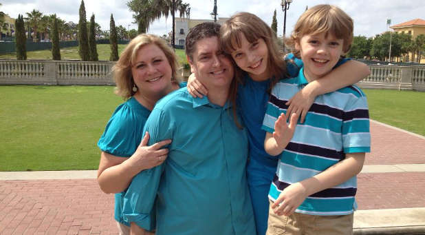 The Akers family, from left: Patty, Shawn, Rachel and Joshua.